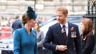 Prince Harry and Duchess Kate attend the Anzac Day service at Westminster Abbey
