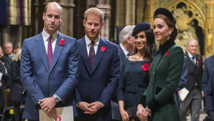 Prince William, Duchess Catherine, Prince Harry and Duchess Meghan at Westminster Abbey