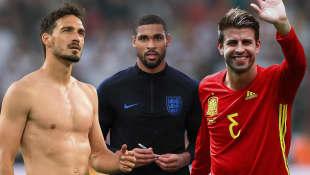 Mats Hummels, Ruben Loftus-Cheek und Gerard Piqué zählen zu den heißesten Spielern der Fußball-WM 2018