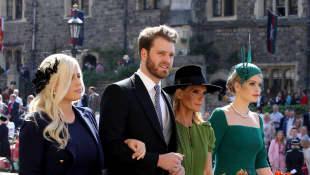 Eliza Spencer, Louis Spencer, Victoria Aitken und Kitty Spencer Hochzeit von Prinz Harry und Meghan Markle