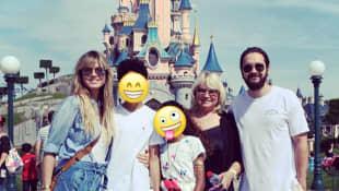 Heidi Klum mit Mama Erna, Tom Kaulitz und den Kindern