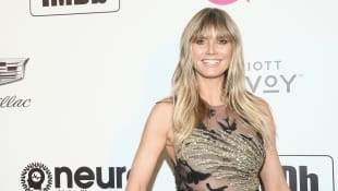 Heidi Klum mit neuem Look bei Elton Johns Oscar-Party