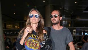 Heidi Klum und Tom Kaulitz am Flughafen von LA