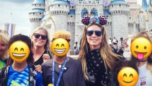 Heidi Klum und ihre Kinder im Disneyland