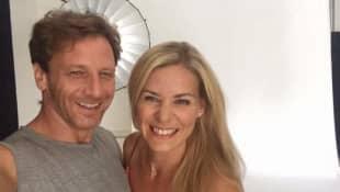 """Hendrik Duryn und Jessica Ginkel am Set von """"Der Lehrer"""""""