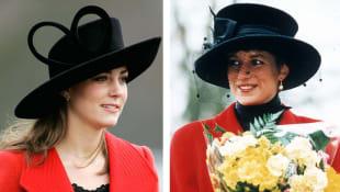 Herzogin Kate und Lady Diana