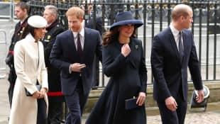 Prinz William, Herzogin Kate, Meghan Markle und Prinz Harry