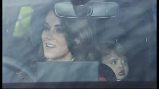 Herzogin Kate und Prinz Louis