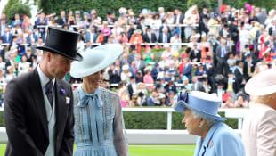 Prinz William, Herzogin Kate und Königin Elisabeth II. beim Auftakt zum Royal Ascot 2019