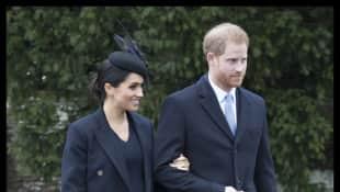 Herzogin Meghan und Prinz Harry: So schick waren die werdenden Eltern beim Gottesdienst
