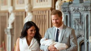 Herzogin Meghan, Prinz Harry und Baby Sussex