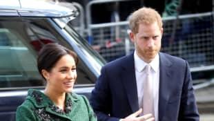 Herzogin Meghan und Prinz Harry besuchen anlässlich des Commonwealth Tag das Canada House
