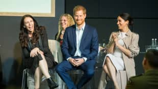 Jacinda Ardern, Prince Harry and Duchess Meghan