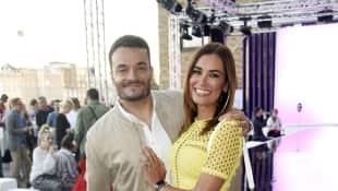 Jana Ina Zarrella und Ehemann Giovanni auf einem Event 2018