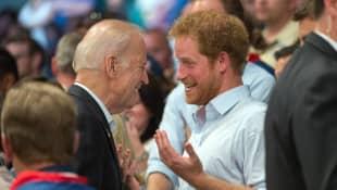 Joe Biden und Prinz Harry