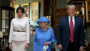 Melania Trump, Königin Elisabeth II. und Donald Trump