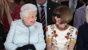 Königin Elizabeth II. und Anna Wintour