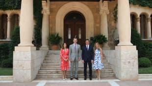 Königin Letizia, König Felipe und Pedro Sánchez
