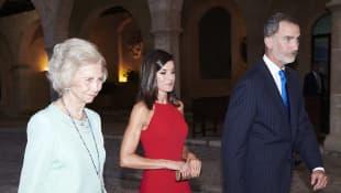 Sofia von Spanien, Königin Letizia und König Felipe