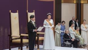Die Kaiserin und der Kaiser von Japan Naruhito und Masako