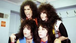 Gene Simmons, Eric Carr, Paul Stanley und Vinnie Vincent von 'KISS'