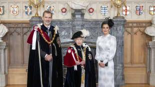 König Felipe, Königin Elisabeth II. und Königin Letizia