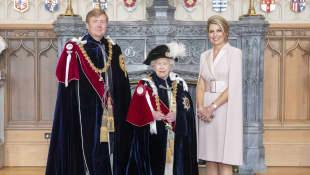 König Willem-Alexander, Königin Elisabeth II. und Königin Máxima