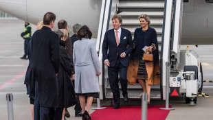 König Willem-Alexander Königin Máxima Niederlande Bremen Deutschland Ankunft