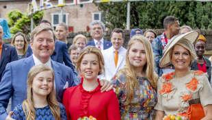 König Willem-Alexander, Königin Máxima und ihre Kinder