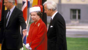 Königin Elisabeth II. und Richard von Weizsäcker