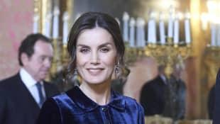 Königin Letizia Madrid Samt