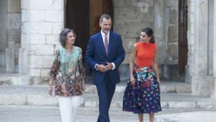 Königin Sofia, König Felipe und Königin Letizia
