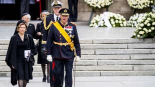 Königin Sonja und König Harald norwegen