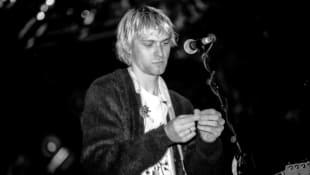 Kurt Cobain bei einem Festival zwischen 1987 und 1994
