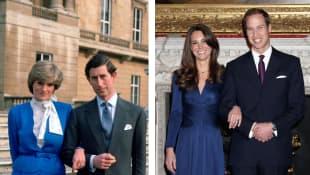 Lady Di und Prinz Charles und Herzogin Kate und Prinz William