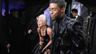 Lady Gaga und Chadwick Boseman bei den Oscars 2019