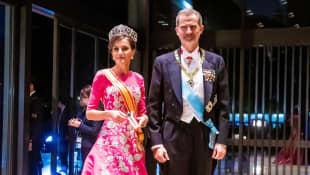 Königin Letizia und König Felipe bei der Kaiserkrönung in Japan