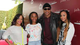 LL Cool J mit Frau und Töchtern