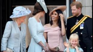 Herzogin Meghan betrat zum ersten Mal den Balkon des Buckingham Palace