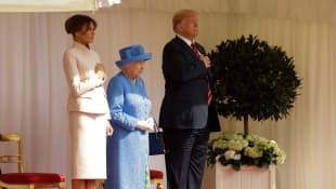 Melania Trump, Königin Elisabeth II., Donald Trump