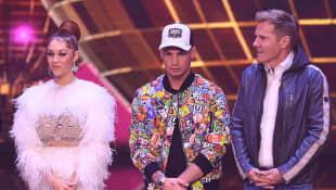 Oana Nechiti, Pietro Lombardi, Dieter Bohlen als DSDS-Jury 2019