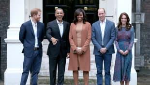 Barack und Michelle Obama, Prinz William und Harry, Herzogin Kate