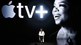 Oprah Winfrey at the unveiling event for Apple's new streaming service Apple TV+.