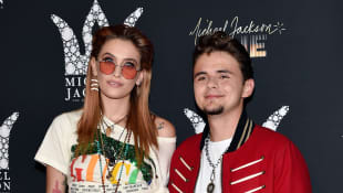 Paris Jackson and Prince Michael Jackson at Michael Jackson's 2018 Diamond Birthday Celebration.