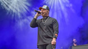 Pietro Lombardi beim Autokino Konzert im Moviepark in Bottrop 2020