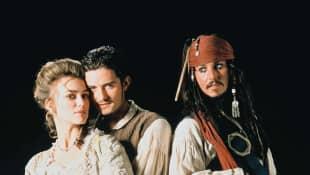 Keira Knightley, Orlando Bloom und Johnny Depp