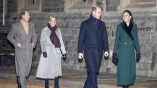 Prinz Edward, Sophie Wessex. Prinz William und Herzogin Kate