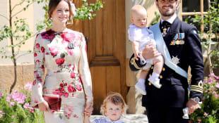 Prinz Carl Philip mit Frau Sofia und Söhnen