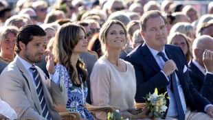 Prinz Carl Philip und Prinzessin Sofia und Prinzessin Madeleine und Christopher O`Neill bei Prinzessin Victorias Geburtstag