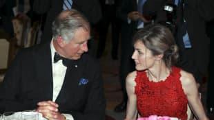 Prinz Charles und Königin Letizia